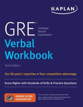 GRE verbal workbook cover image