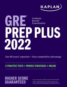 GRE prep plus cover image