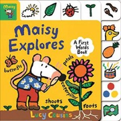 Maisy explores : a first words book cover image