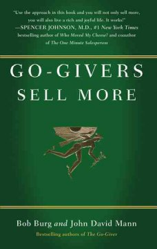 Go-givers sell more cover image