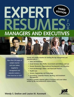 Expert résumés for managers and executives cover image