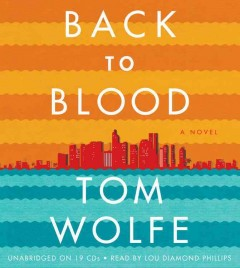 Back to blood a novel cover image