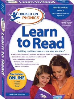 Hooked on phonics. Learn to read, level 2, ages 4-6 Kindergarten, cover image
