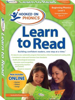 Hooked on phonics. First grade, level 1, ages 6-7 learn to read cover image