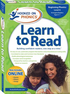 Hooked on phonics. First grade, level 2, ages 6-7 learn to read cover image