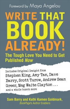 Write that book already! : the tough love you need to get published now cover image