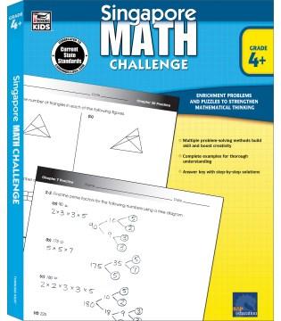 Singapore math challenge. Grade 4+ cover image