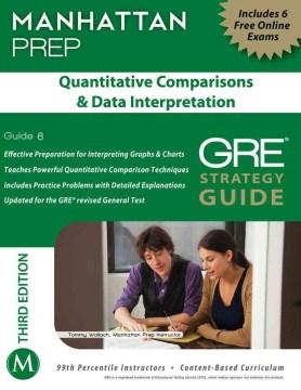 Quantitative Comparisons & Data Interpretation : GRE strategy guide cover image