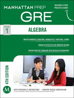 Algebra : GRE strategy guide cover image