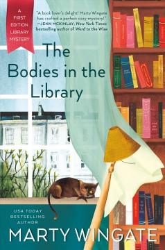 The bodies in the library cover image
