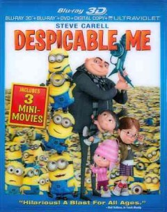 Despicable me [3D Blu-ray + Blu-ray + DVD combo] cover image