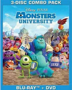 Monsters University [Blu-ray + DVD combo] cover image