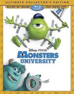 Monsters University [3D Blu-ray + Blu-ray + DVD combo] cover image