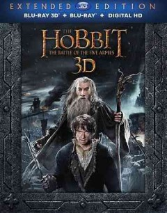 The hobbit. The battle of the five armies [3D Blu-ray + Blu-ray combo] cover image