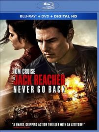 Jack Reacher. Never go back [Blu-ray + DVD combo] cover image