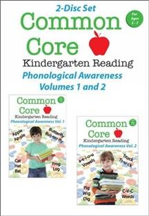 Common core kindergarten reading. Phonological awareness. Volumes 1 and 2 cover image
