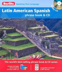 Latin American Spanish phrase book & CD cover image