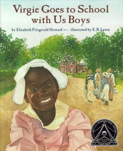 Book jacket for Virgie goes to school with us boys