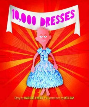 Book jacket for 10,000 dresses