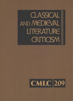 Classical and medieval literature criticism. Volume 209