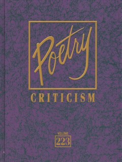 Poetry criticism. Volume 223