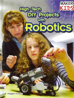 Book jacket for High-tech DIY projects with robotics