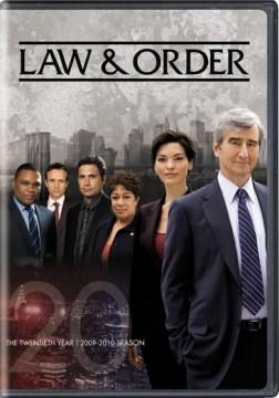 Law & order. Season 20, 2009-2010