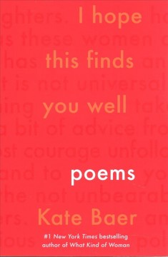 I Hope This Finds You Well : Poems
