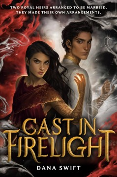 Cast in firelight