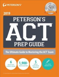 Peterson's Act Prep Guide 2019