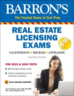 Barron's Real Estate Licensing Exams With Online Digital Flash Cards : With Bonus Online Digital Flash Cards
