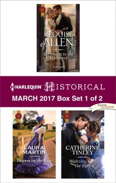 Harlequin historical March 2017, box set 1 of 2