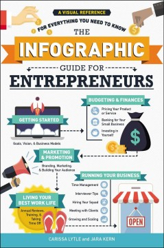 The infographic guide to entrepreneurs : a visual reference for everything you need to know / Carissa Lytle and Jara Kern.