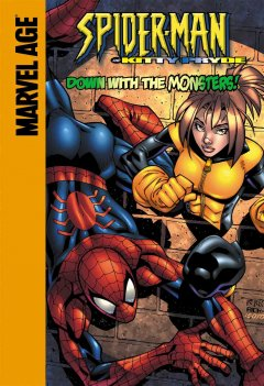 Spider-Man and Kitty Pryde in down with the monsters! / Bill Mantlo & Ron Frenz, inspiration ; Todd Dezago, script ; Jonboy Meyers, pencils ; Nathan Massengill & David Newbold, inks ; Digital Rainbow, colors ; Dave Sharpe, letters.