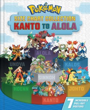Poǩmon Size Chart Collection : Kanto to Alola