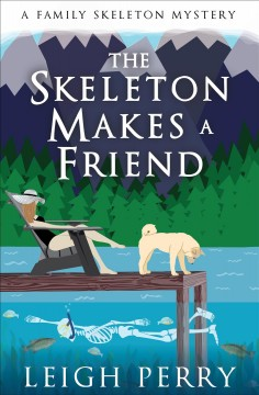 The skeleton makes a friend Leigh Perry.