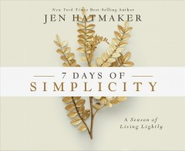 7 Days of Simplicity (CD)