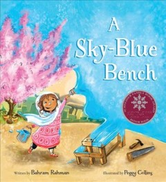 A Sky-blue Bench