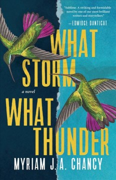 What storm, what thunder / Myriam J.A. Chancy.