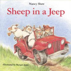 Sheep in a Jeep, book cover
