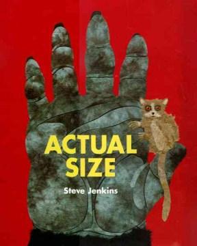 Actual size , book cover