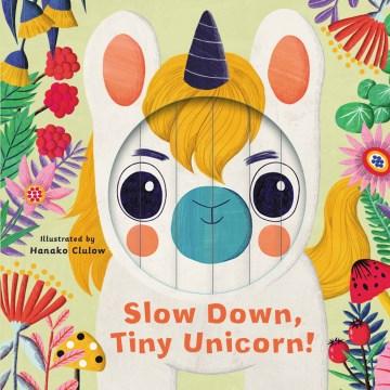 Slow down, tiny unicorn! by Rhiannon Findlay ; illustrated by Hanako Clulow.