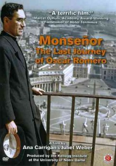 Monseñor: The Last Journey of Óscar Romero, book cover