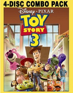 Toy story 3 [videorecording] by Walt Disney Pictures presents a Pixar Animation Studios film ; produced by Darla K. Anderson ; story by John Lasseter, Andrew Stanton and Lee Unkrich ; screenplay by Michael Arndt ; directed by Lee Unkrich.