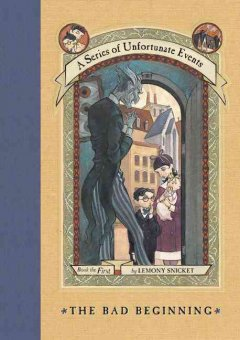 A Series of Unfortunate Events by Lemony Snicket, book cover