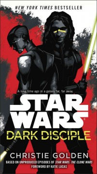 Dark Disciple by Christie Golden, book cover