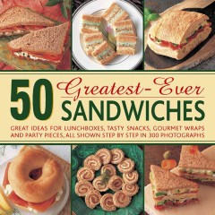 50 Greatest-ever Sandwiches, book cover