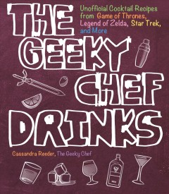 The Geeky Chef Drinks, book cover
