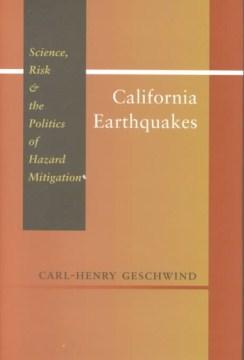 Terremotos de California: ciencia, riesgo y política de mitigación de peligros, portada del libro