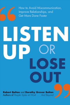Listen Up or Lose Out, book cover